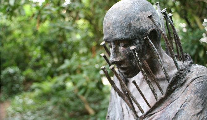 Tuin der verwondering, Kieta Nuij bronzen beelden