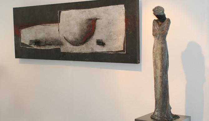 Bronzen beelden van Kieta Nuij bij eleven11 artgallery, Knokke