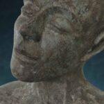 'Tête 3', Kieta Nuij bronzen beelden